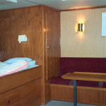 A view of the Client cabin. Onboard Odin Finder there are 25 beds in single or double cabins.